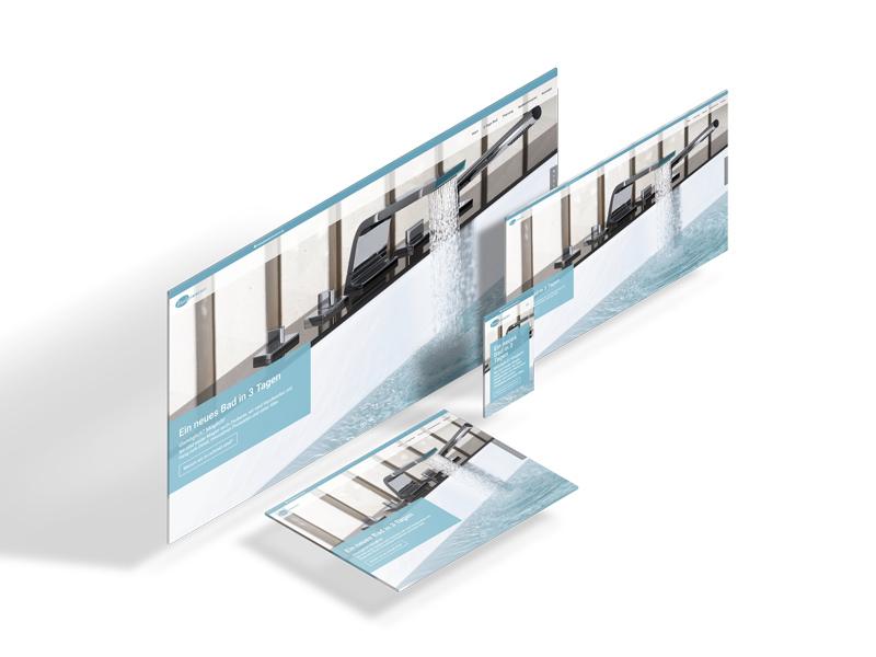 Portfolio: Responsive Design von badezimmerei.de