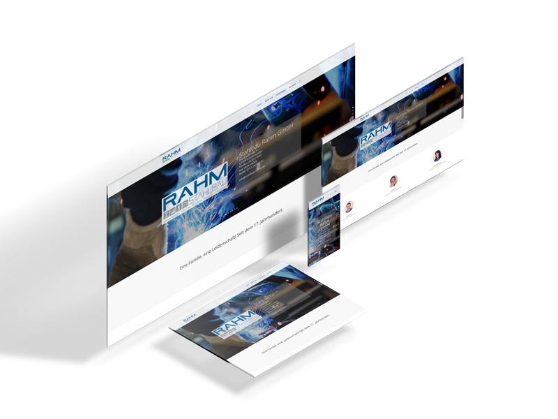 Portfolio: Responsive Design von stahlbau-rahm.de
